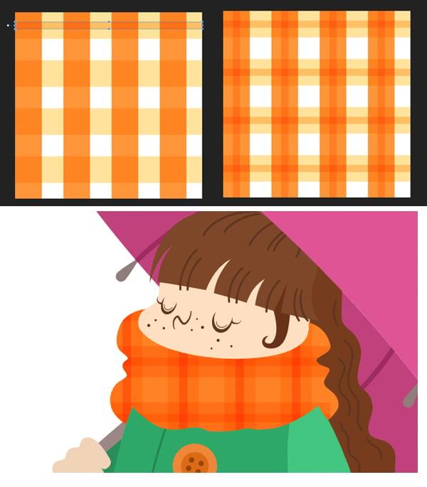 create a striped tartan pattern