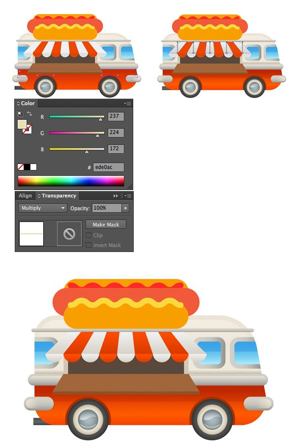 add shadows and recolor the sunshade