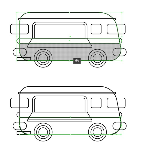 split the van into two parts