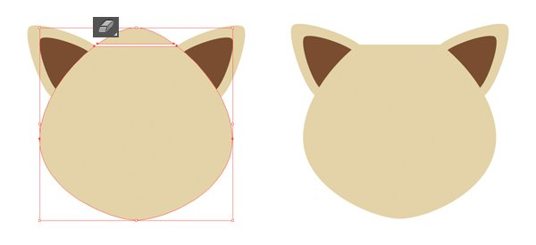 make the top part of the head flat