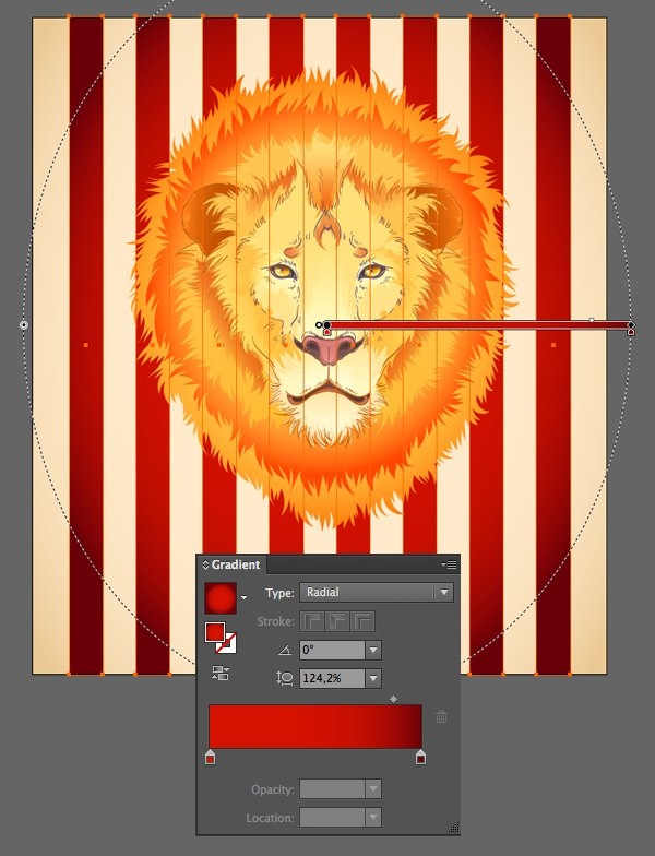 add red stripes to the background