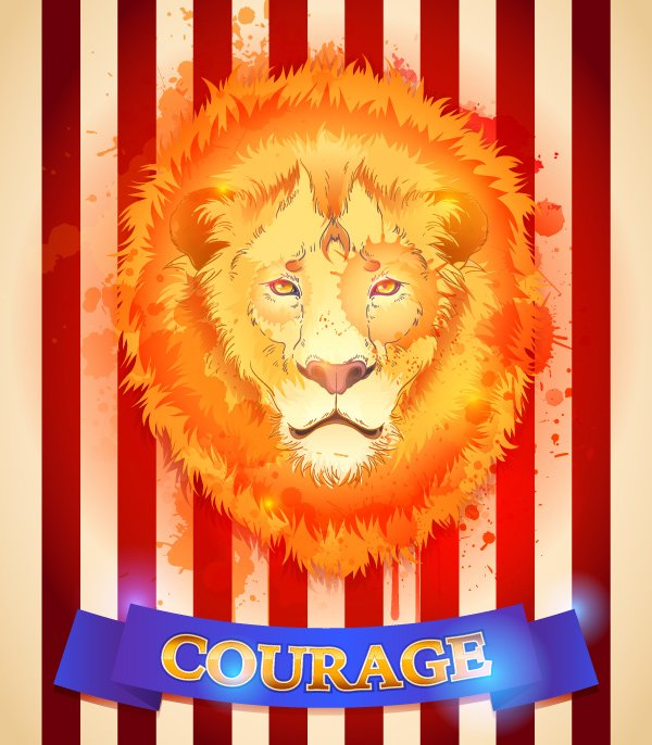 Cowardly lion from Wizard of Oz