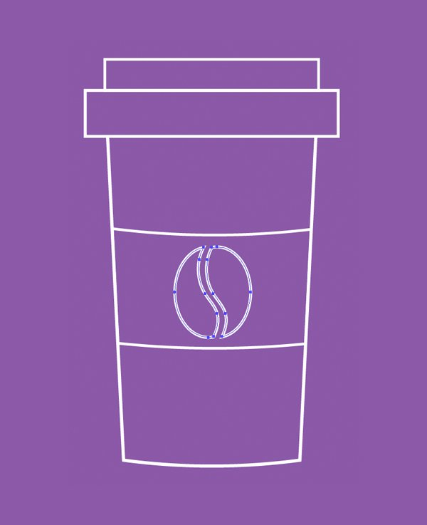 place the coffee label on the cup