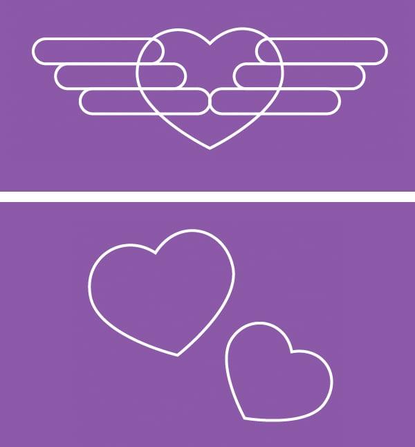 make additional heart elements