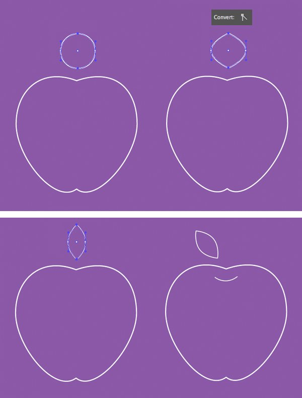 make a leaf from a circle