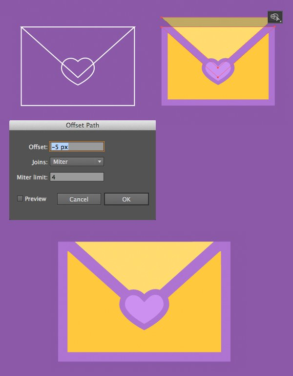 color the envelope and add details