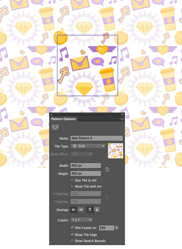 use dimmed copies to edit your pattern
