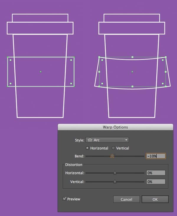 add arched paper stripe