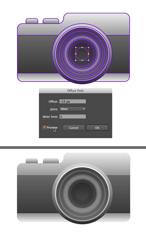 create the aperture from a circle