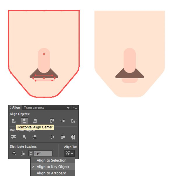 add the lower lip with Rounded Rectangle Tool
