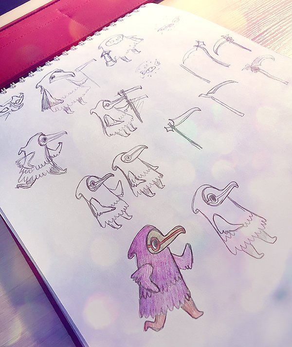 making sketches