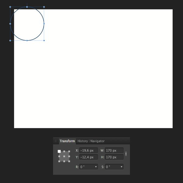 start making the trees with the ellipse tool