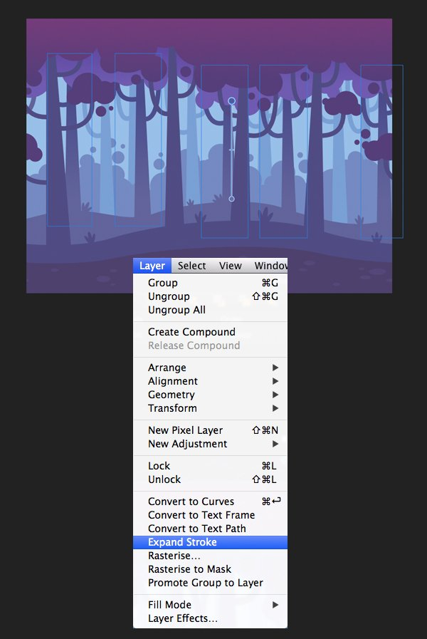 apply gradients with the fill tool 2
