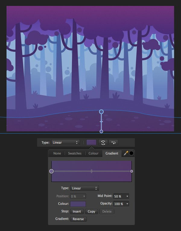 apply gradients with the fill tool 5