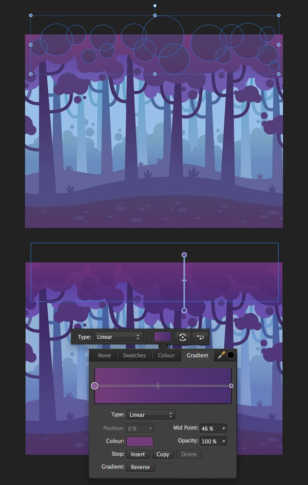 add more details to the trees