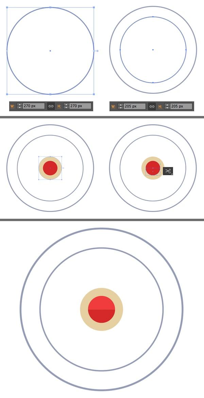make a ferris wheel from circles