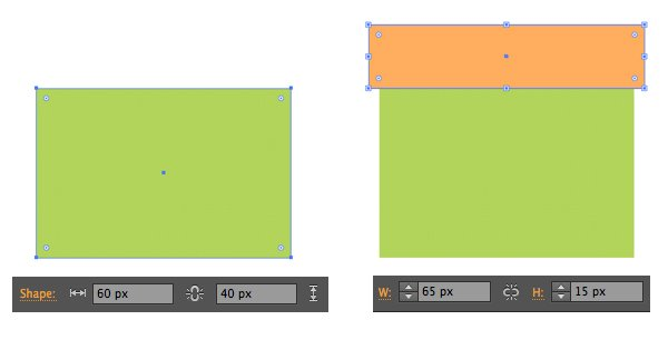 shape the box from rectangles