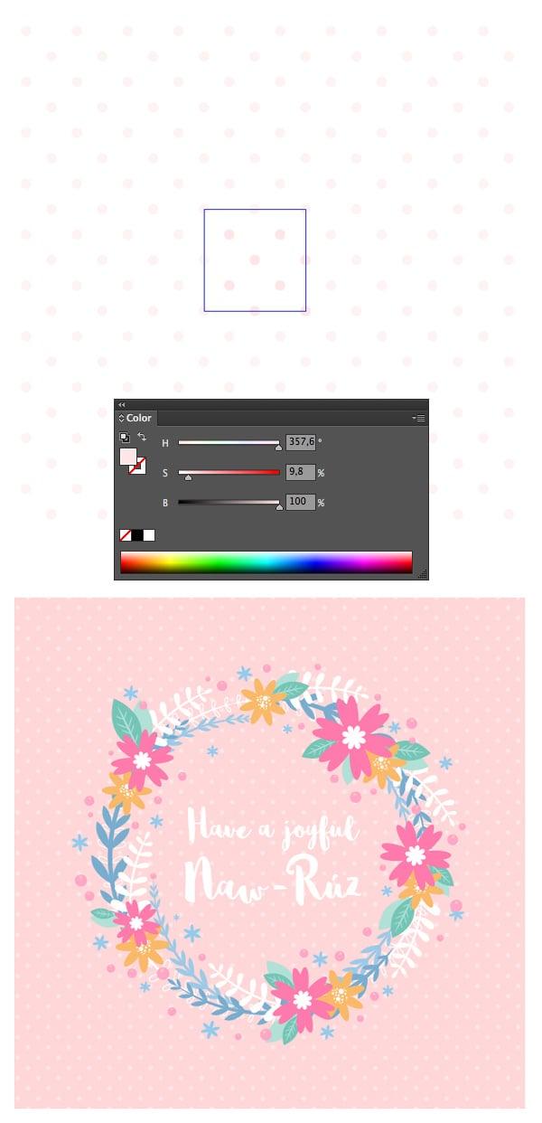 recolor polka dot pattern