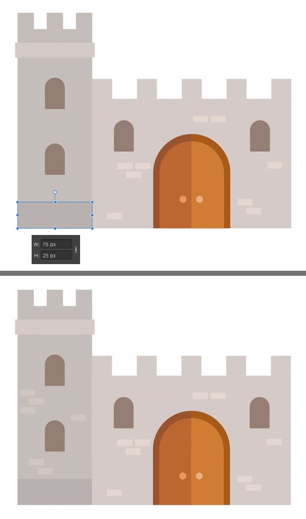 add a border in the bottom part of the tower