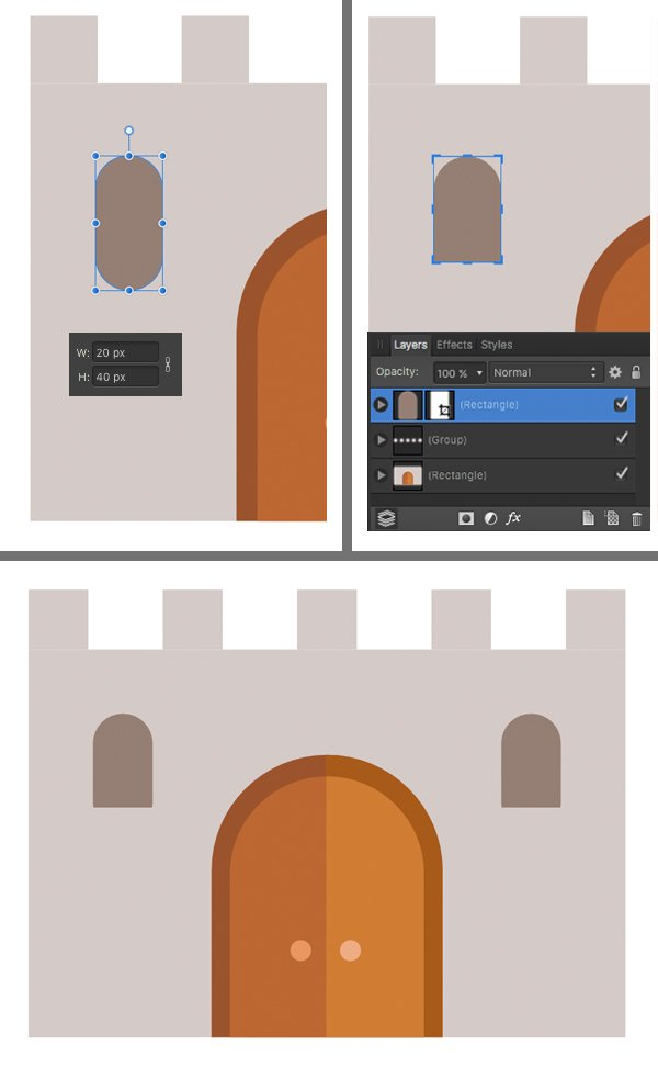 make the windows from rounded rectangle
