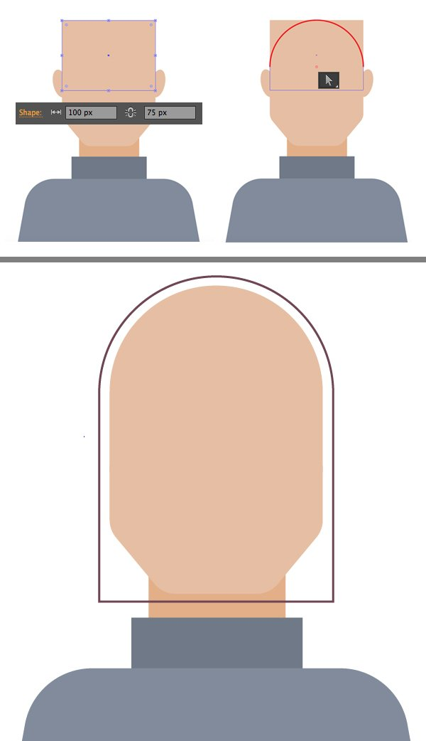 make Magnetos helmet from rectangle