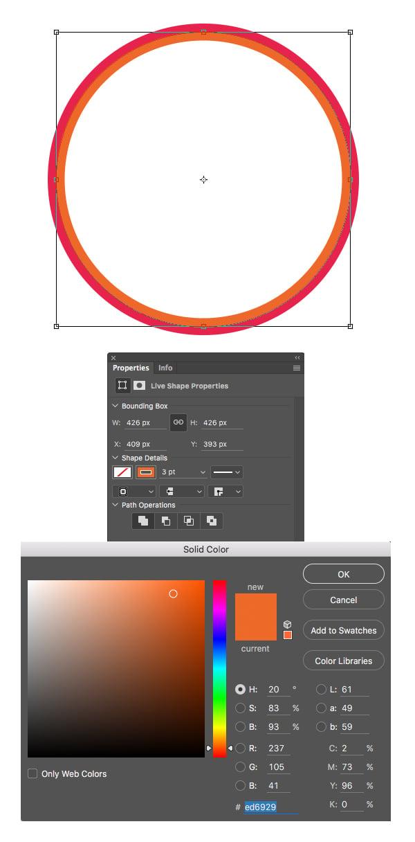 make orange circle