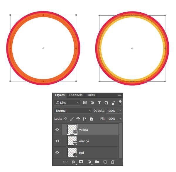 make yellow circle