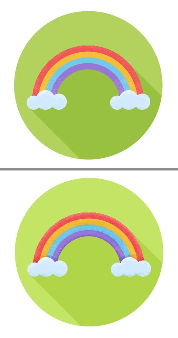 make the rainbow icon textured