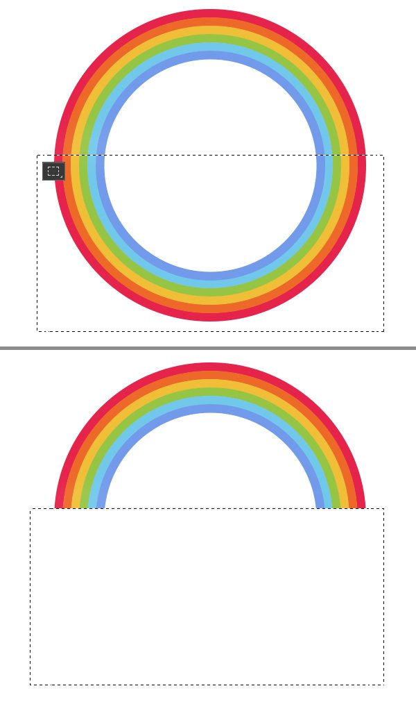 delete the bottom of the rainbow