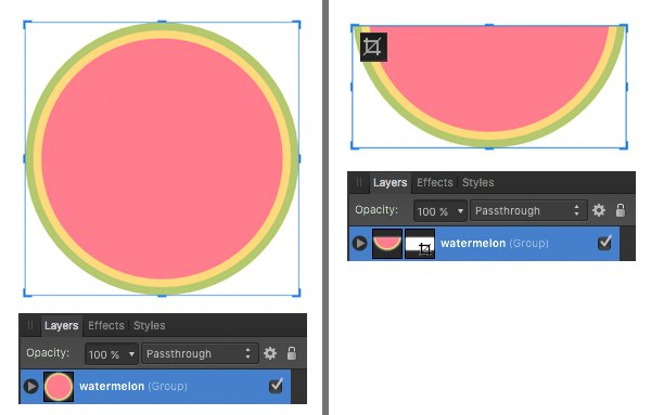 crop the shape with vector crop tool