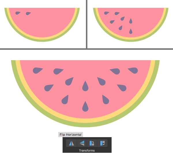add seeds to the watermelon