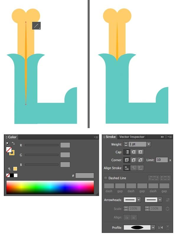 add a vertical line