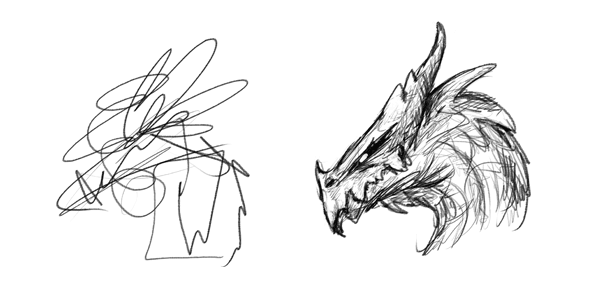 the difference between drawing and creating