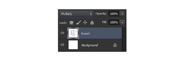 multiply blending mode lineart