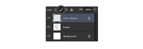 photoshop lock image pixels