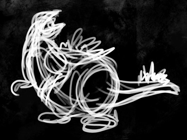 concept art beast sketch gesture