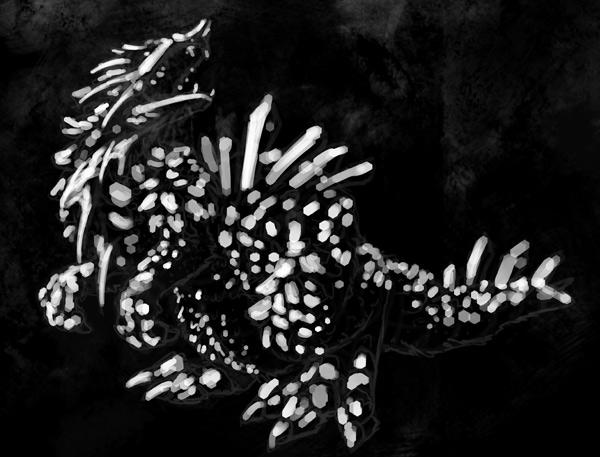 concept art monster light