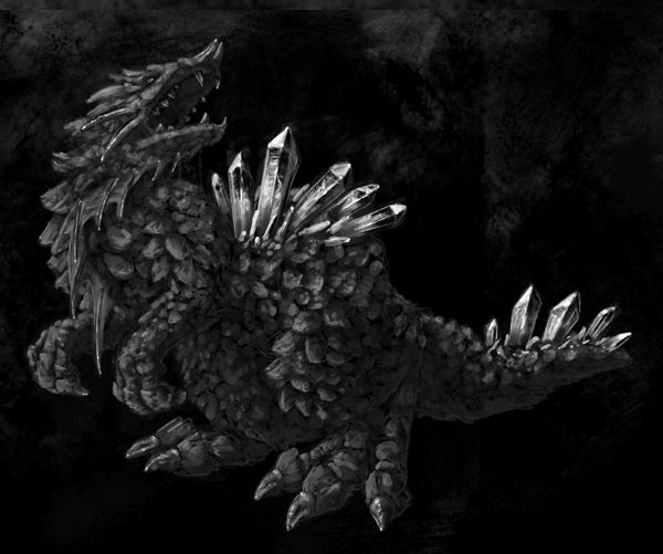 concept art monster painting crystal digital 13