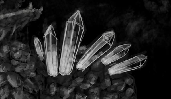 concept art monster painting crystal digital 2