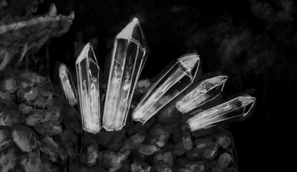 concept art monster painting crystal digital 4