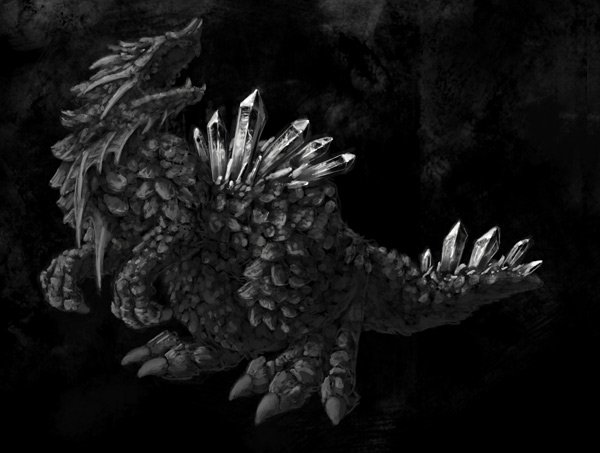 concept art monster painting crystal digital 9
