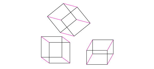 orthographic view perspective cube how to draw