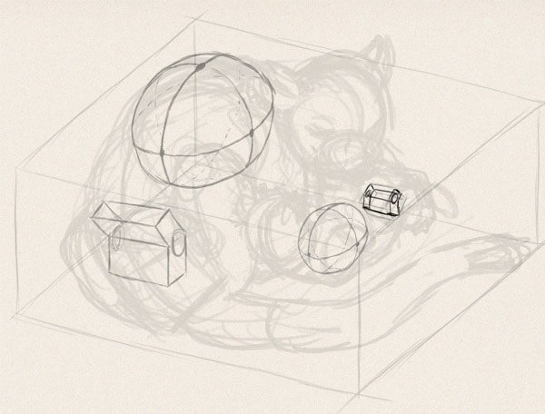 how to draw animals in perspective 3d depth 12