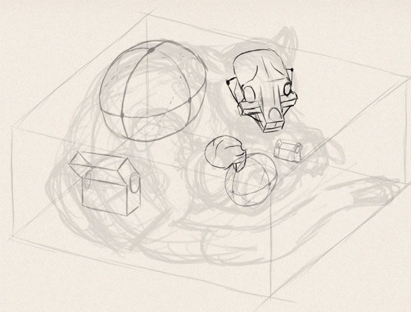 how to draw animals in perspective 3d depth 14