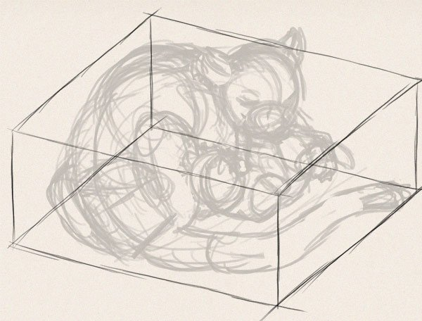 how to draw animals in perspective 3d depth 2