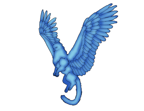 animation animal griffin flight flying wings draw photoshop color 5