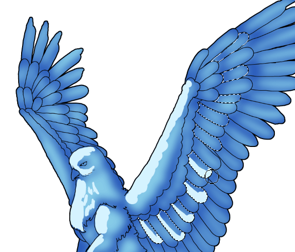 animation animal griffin flight flying wings draw photoshop color 7 shading feathers