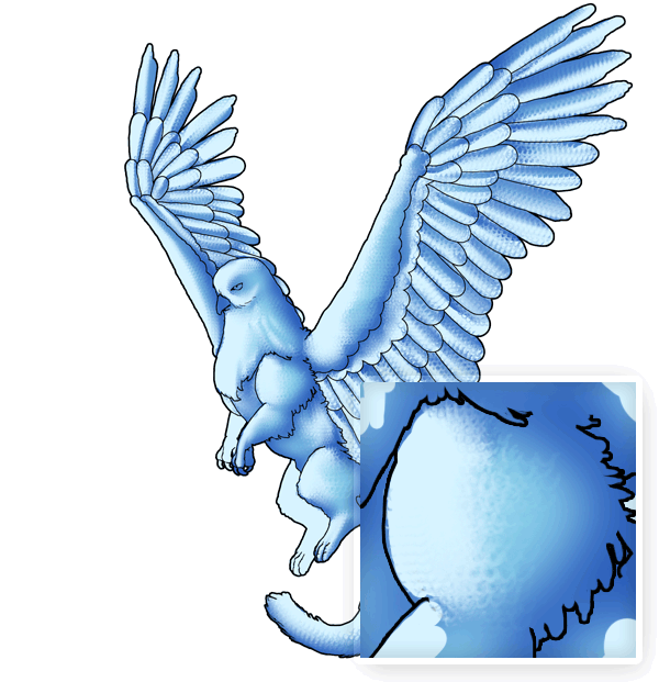 animation animal griffin flight flying wings draw photoshop blend feathers 2
