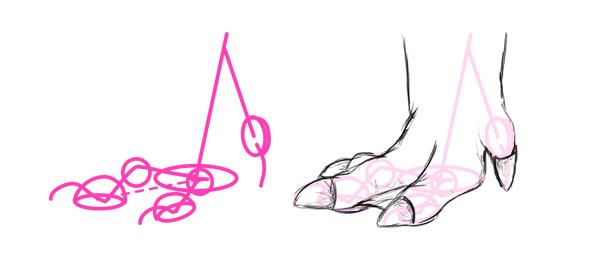 how to draw capybara pwas feet toes