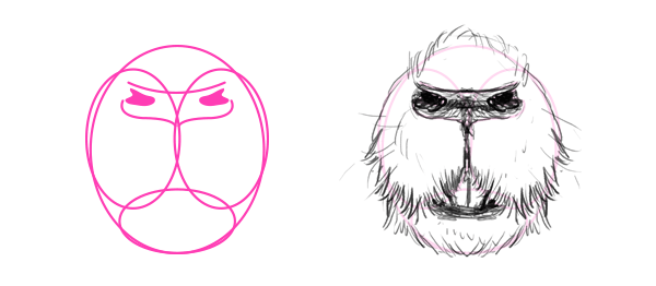 how to draw groundhog mouth nose teeth